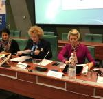Panel of speakers at the European Consultation on Gender Equality and Political Empowerment on 10 November in Strasbourg, France