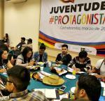 Jóvenes líderes trabajando en una agenda común. credito de imagen: IDEA Internacional.