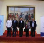 "Candidates running for the position of Mayor of Lima arrived at the launch of the ""Guide for a Livable City"": Manuel Velarde, Jorge Villacorta, Jorge Muñoz, Norma Yarrow (representing candidate Renzo Reggiardo) and Gustavo Guerra García. Photo credit: International IDEA."