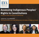 Event on 'Assessing Ingneous Peoples' Rights in Constitutions' hosted at the 14th session of UN Expert Mechanisms on the rights of Indigenious People. Image credit: International IDEA.