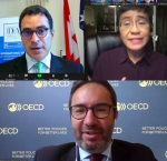 From left: Dr Kevin Casas-Zamora, Secretary-General of International IDEA, Maria Ressa, CEO and President of Rappler, and Jorge Moreira da Silva, Director of the OECD Development Co-operation Directorate.
