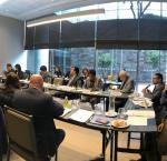 La bancada de Peruanos por el Kambio reunida con el equipo de IDEA y expertos. Foto: IDEA Internacional