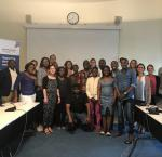 Members of the visiting group of 15 young leaders from Zimbabwe with staff from International IDEA's Stockholm-based Global Programme teams.