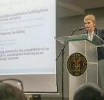 Professor Cheryl Saunders at the PH Constitution @30 Public Forum, University of the Philippines Cebu.(Photo© Nyla Prieto)