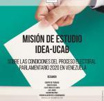 Portada del informe sobre las condiciones del proceso electoral parlamentario en Venezuela 2020