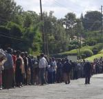 Kenya's fourth presidential and parliamentary elections were held on 4 Mar 2013: Long lines of patient voters at the polling station at Loresho Primary School. Photo credit: ILRI/Susan MacMillan@flickr.