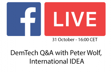DemTech Q&A with Peter Wolf, International IDEA