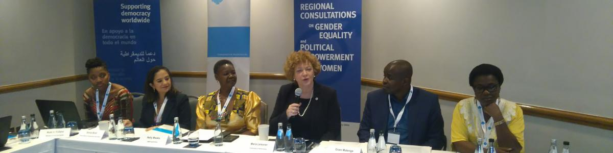 Panelist discuss the African perspectives on gender equality and political empowerment of women​ in South Africa.