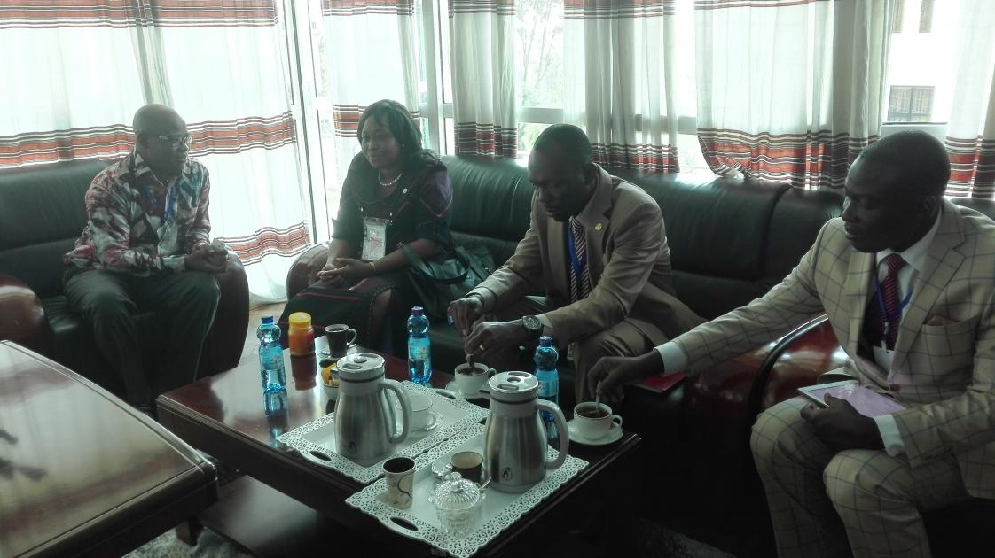 Minata Samate Cessouma meets with Adebayo Olukoshi