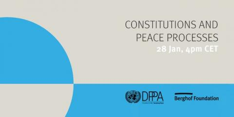 Event banner Constitutions and peace processes