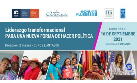 Cartel con mujeres lideres de diferentes países de América Latina