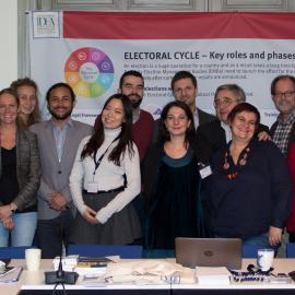 """Group photo of the """"Marginalized Groups in Electoral Processes"""" workshop participants"""