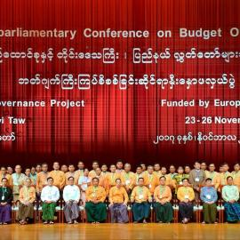 Participants of the firstInter-Parliamentary Conference on Budget Oversight, Nay Pyi Taw, 23–26 November 2017. Photo credit: Wine Gyi.