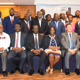Participants of the round table Dialogue held in Abuja, Nigeria on 27-28 July 2017. Photo credit: International IDEA