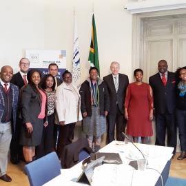 The Secretary-General with the Delegation of South Africa's Gauteng Provincial Legislature. Photo credit: International IDEA