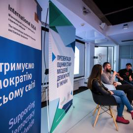 Launch of State of Local Democracy assessment in Ukraine. Image credit: International IDEA