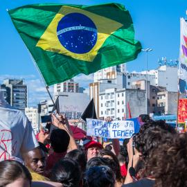 """For most part of the year, Brazil has seen large number of citizen protests in light of the Lava Jato (""""Car Wash"""") scandal and the Odebrecht case (Photo  Cretit: Márcio Motta)"""