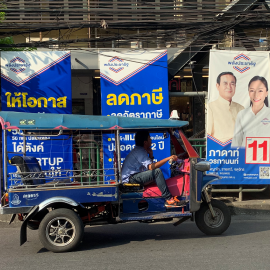 Campaigning is very much happening along the streets of Bangkok. Image credit:  Adhy Aman, International IDEA