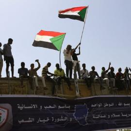 Unyielding protesters put an end to Sudanese President Omar al-Bashir's 26-year old authoritarian rule. Image credit: EPA-EFE/Stringer