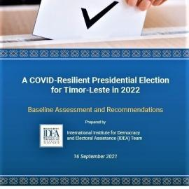 'A Covid-Resilient Presidential Election for Timor-Leste in 2021: Baseline Assessment and Recommendations' was presented to the country's two electoral management bodies on 24 September 2021. Image credit: Tito Da Costa of UNDP Timor-Leste.