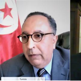 From left: Rumbidzai Kandawasvika-Nhundu, Senior Advisor on Democracy and Inclusion at International IDEA, H.E. Ambassador Riadh Ben Sliman, Embassy of Tunisia to Sweden and Dr Kevin Casas-Zamora, the Secretary-General of International IDEA.