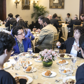 Lunch with participants at the IDEAthon in Lima, Peru on 20 November 2017. Photo credit: Yael Rojas.