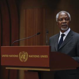 Kofi Annan at launch of International IDEA's Global State of Democracy publication