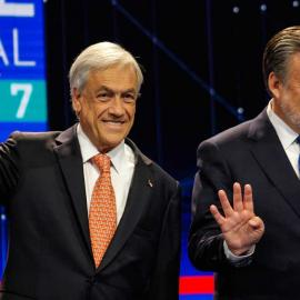 Presidential election candidates, Sebastian Piñera and Alejandro Guillier. Chile, 2017. Image:Patricio Alarcón