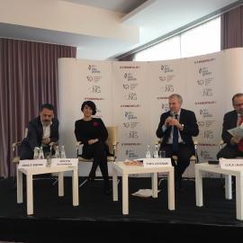 International IDEA's Secretary General speaking at the Bucharest Civil Society Forum