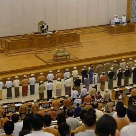 Myanmar's Pyithu Hluttaw (Upper House of Parliament). Source: Wikipedia